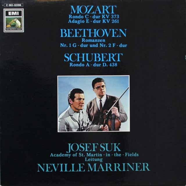 マリナー、スークのモーツァルト、ベートーヴェン、シューベルト 独EMI 3328 LP レコード