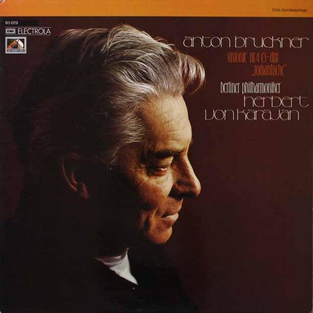 カラヤンのブルックナー/交響曲第4番「ロマンティック」  独EMI  2630 LP レコード