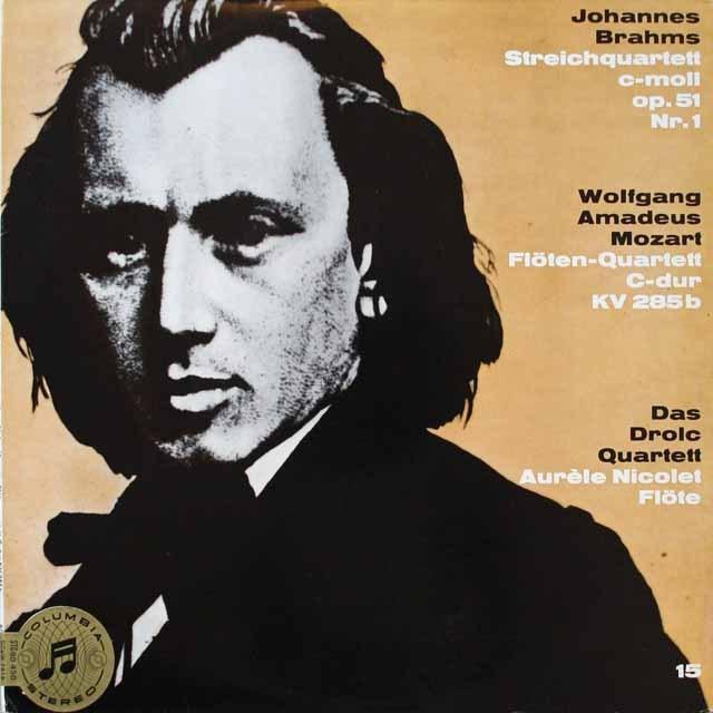 ドロルツ四重奏団のブラームス/弦楽四重奏曲第1番ほか 独columbia 2610 LP レコード