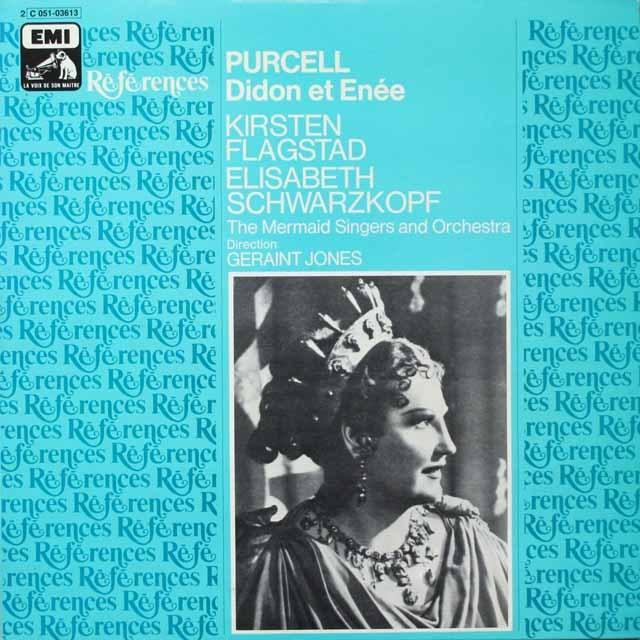 シュヴァルツコップのパーセル/歌劇「ディドとエネアス」 仏EMI(VSM) モノラル 3329 LP レコード