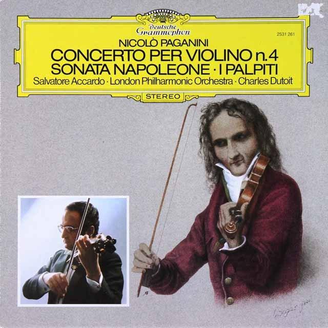 アッカルドのパガニーニ/ヴァイオリン協奏曲第4番ほか  独DGG 2730 LP レコード
