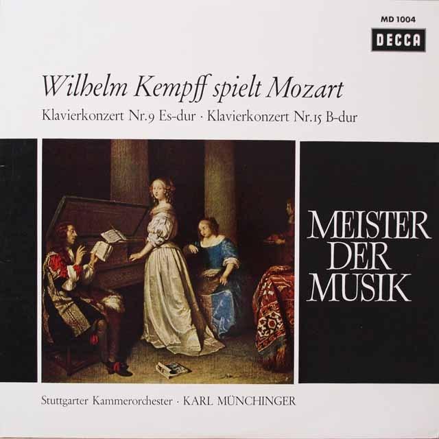 ケンプ&ミュンヒンガーのモーツァルト/ピアノ協奏曲第9&15番  独DECCA  2629 LP レコード