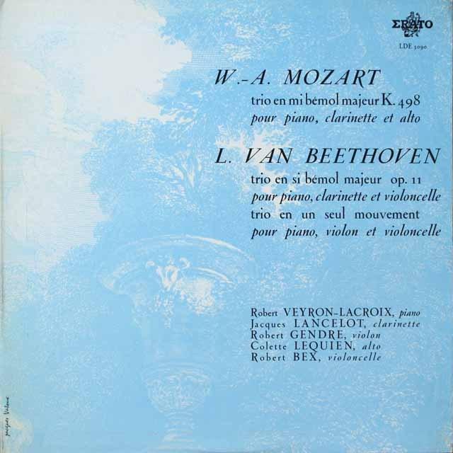 ラクロア、ランスロらのベートーヴェン、モーツァルト/室内楽曲集 仏ERATO モノラル 3329 LP レコード