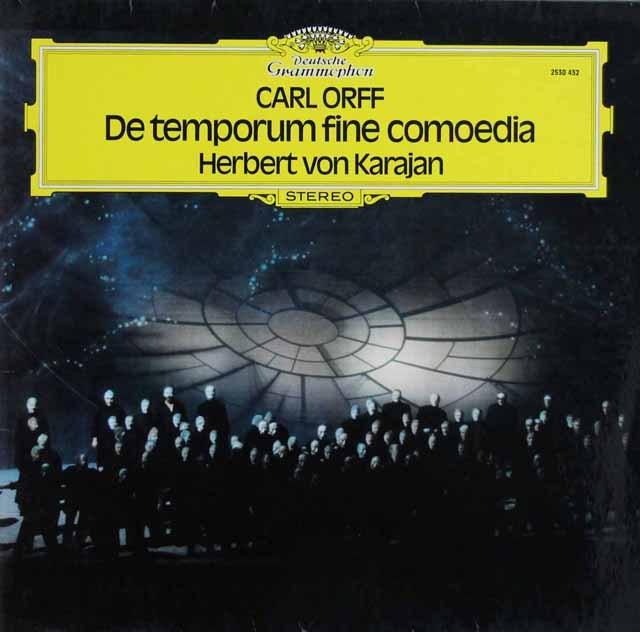 カラヤンのオルフ/「時の終わりの劇」 独DGG 3286 LP レコード