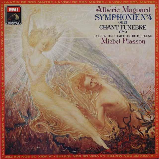 プラッソンのマニャール/交響曲第4番ほか 仏EMI 3227 LP レコード
