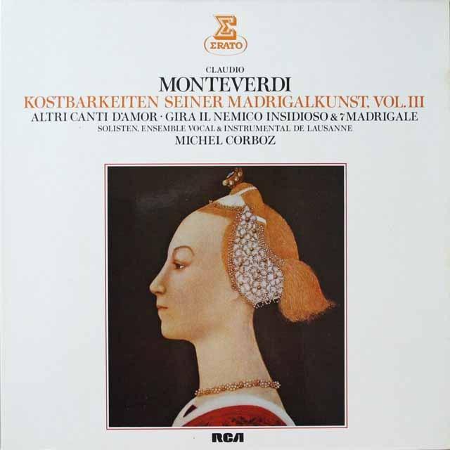 コルボのモンテヴェルディ/マドリガル曲集 独ERATO 3329 LP レコード