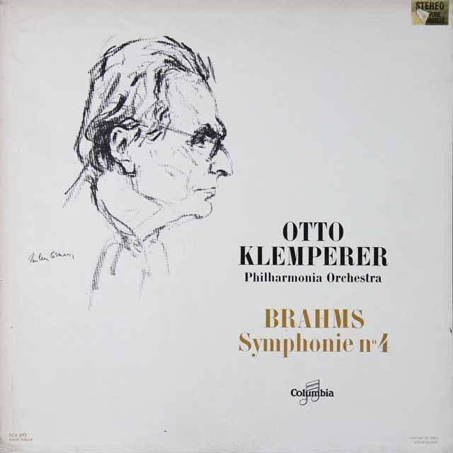 クレンペラーのブラームス/交響曲第4番 仏columbia LP レコード