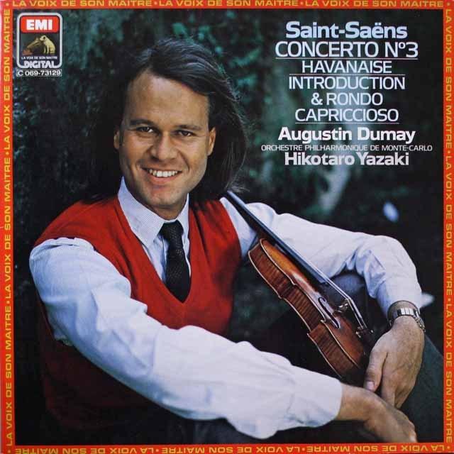 デュメイのサン=サーンス/ヴァイオリン協奏曲第3番 仏EMI(VSM) 3329 LP レコード