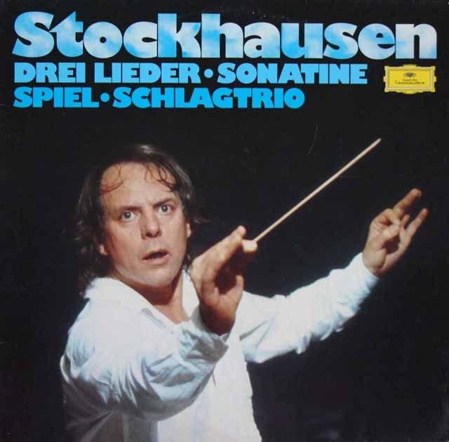 シュトックハウゼンの自作自演/3つの歌曲(1950)ほか  独DGG  2902 LP レコード