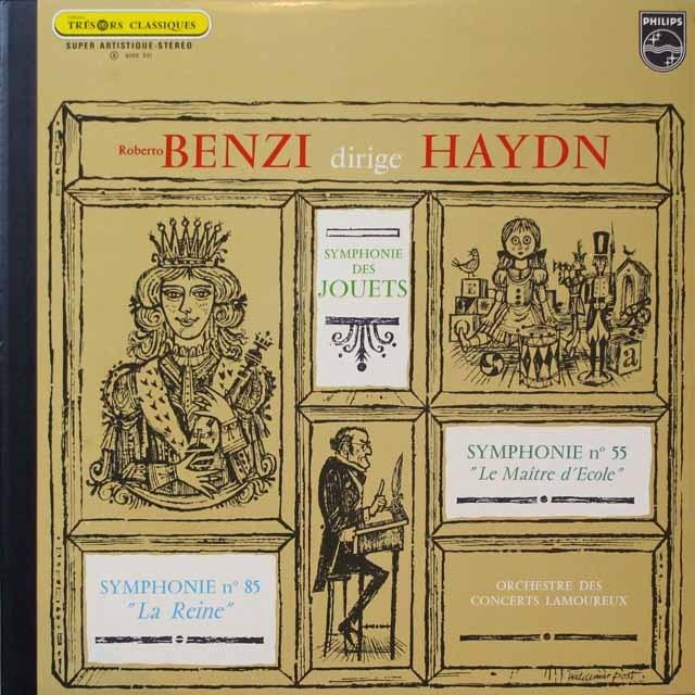 ベンツィのハイドン/交響曲第55、85番 仏PHILIPS 3329 LP レコード