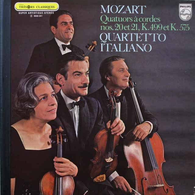 イタリア四重奏団のモーツァルト/弦楽四重奏曲第20&21番 仏PHILIPS 2611 LP レコード