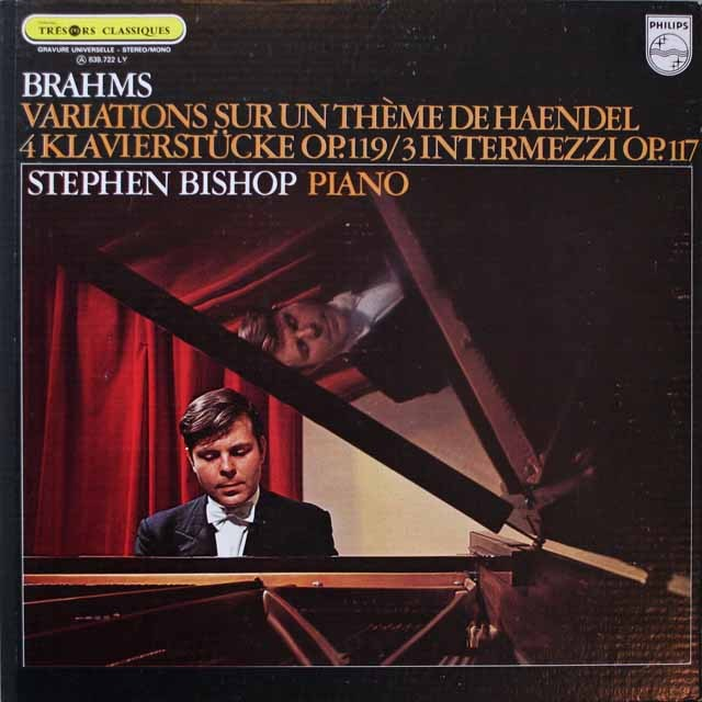 ビショップのブラームス/ヘンデルの主題による変奏曲とフーガほか 仏PHILIPS 3329 LP レコード