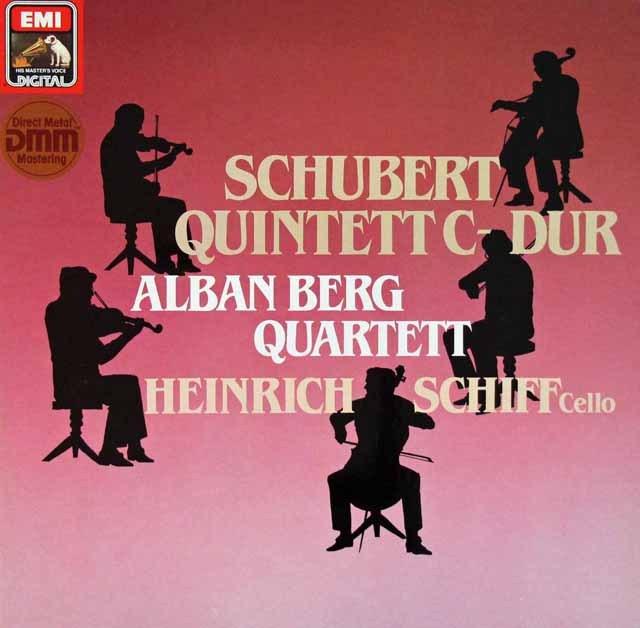 アルバン・ベルク四重奏団&シフのシューベルト/弦楽五重奏曲 独EMI 2902 LP レコード
