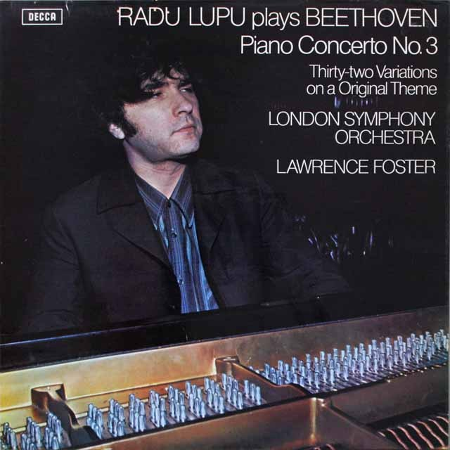 【オリジナル盤】 ルプーのベートーヴェン/ピアノ協奏曲第3番ほか 英DECCA 3329 LP レコード