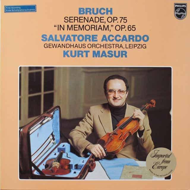 アッカルド&マズアのブルッフ/「セレナード」ほか  蘭PHILIPS  2626 LP レコード