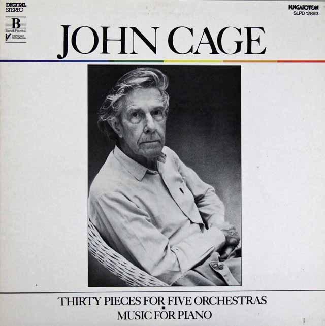 エトヴェシュらのケージ/5つのオーケストラのための30の小品 ハンガリーHUGAROTON 3286 LP レコード