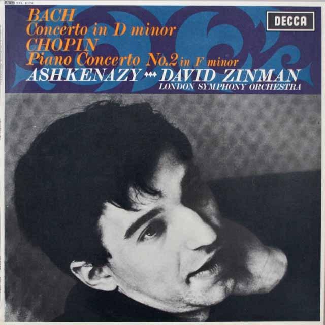 アシュケナージのバッハ、ショパン/ピアノ協奏曲集 英DECCA 3329 LP レコード
