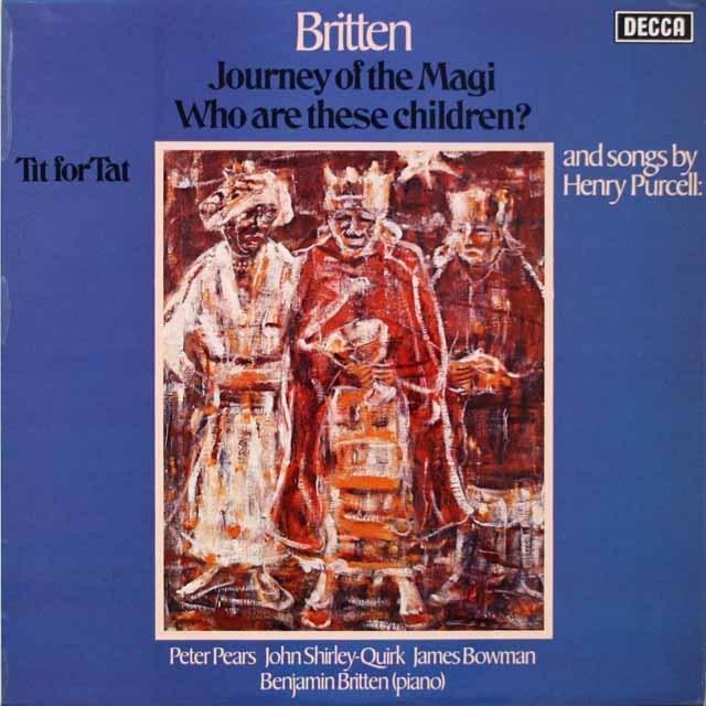 【オリジナル盤】 ピアーズ、ブリテンのブリテン/「この子らはだれか」ほか 英DECCA 3330 LP レコード