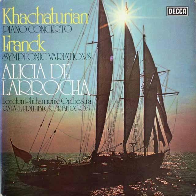 【オリジナル盤】 ラローチャ、ブルゴスのハチャトゥリアン/ピアノ協奏曲ほか 英DECCA 3330 LP レコード