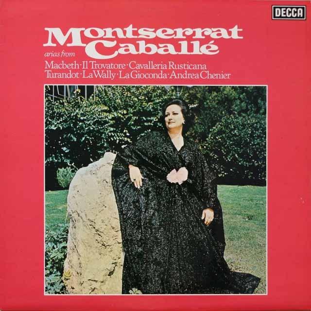 【オリジナル盤】 カバリエの「オペラ・アリア集」 英DECCA 3330 LP レコード