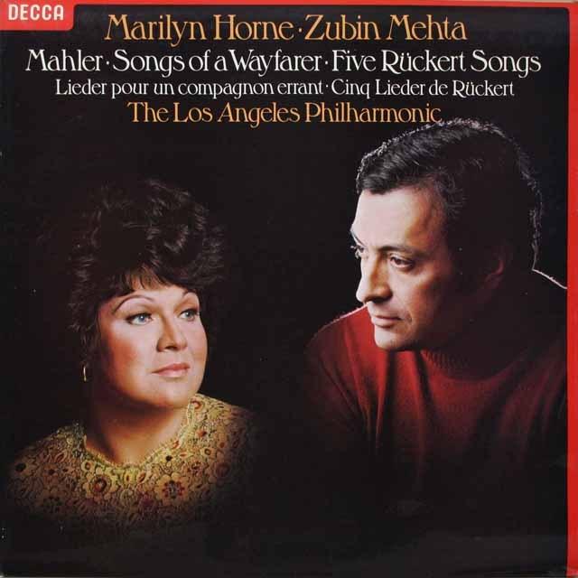【オリジナル盤】 ホーン、メータのマーラー/「さすらう若人の歌」ほか 英DECCA 3330 LP レコード