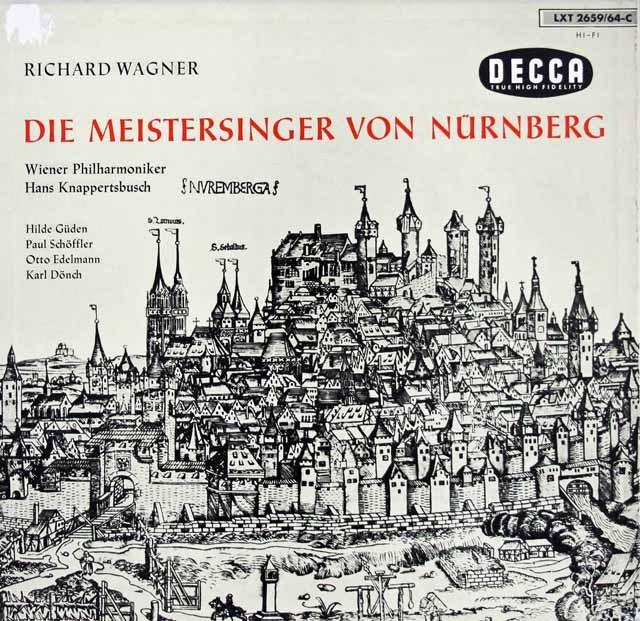 クナッパーツブッシュのワーグナー/「マイスタージンガー」 独DECCA 3286 LP レコード