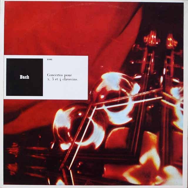 リステンパルトらのバッハ/ 4つのチェンバロ協奏曲集  仏CF  2626 LP レコード