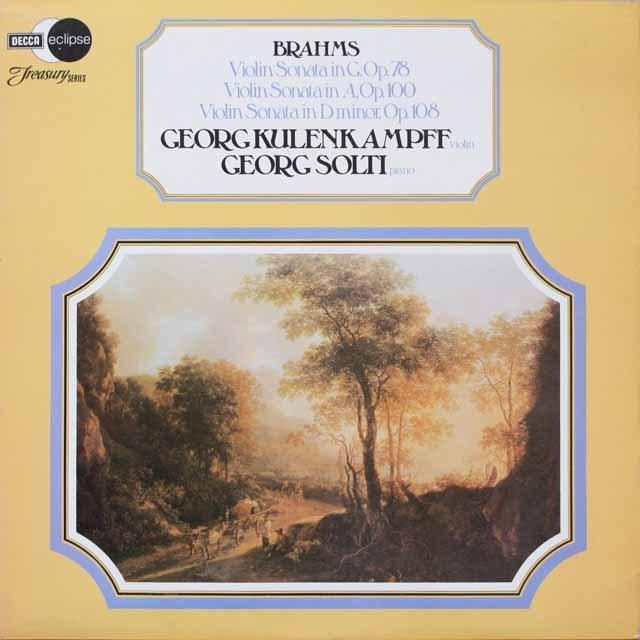 クーレンカンプ&ショルティのブラームス/ヴァイオリンソナタ集 英DECCA モノラル 2612 LP レコード