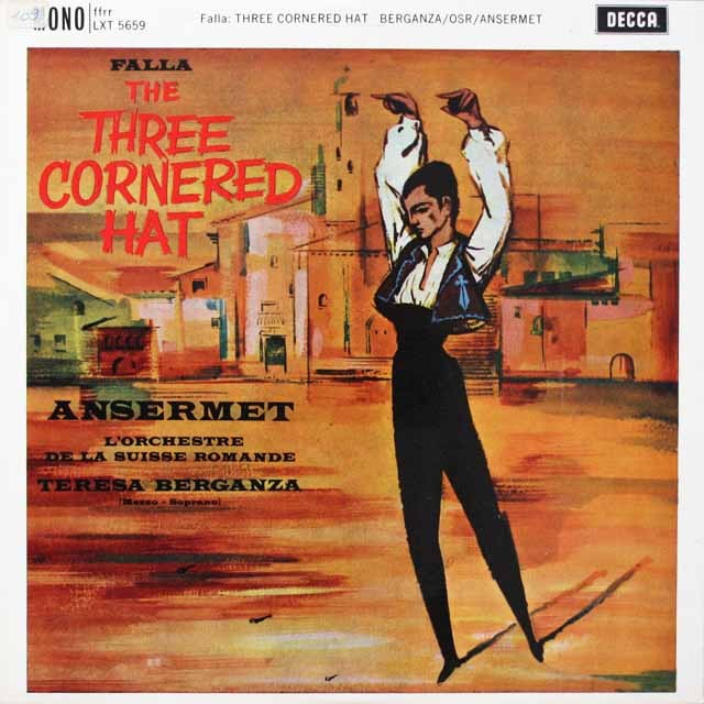アンセルメ&ベルガンサのファリャ/「三角帽子」ほか 英DECCA モノラル 2612 LP レコード