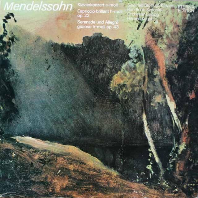 シュテッキヒト&ケーゲルのメンデルスゾーン/ピアノ協奏曲ほか  独ETERNA  2626 LP レコード
