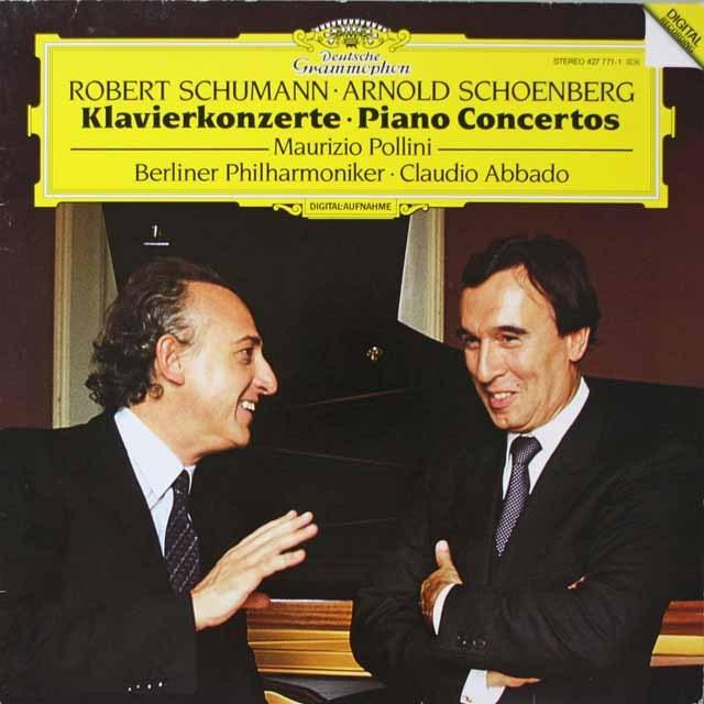 ポリーニ&アバドのシューマン/ピアノ協奏曲ほか  蘭DGG  3324 LP レコード