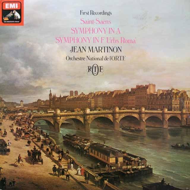 マルティノンのサン=サーンス/交響曲イ長調ほか 英EMI 2613 LP レコード