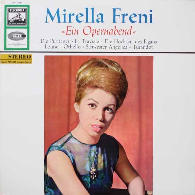 フレーニの「オペラアリア集1」 独EMI 2613 LP レコード
