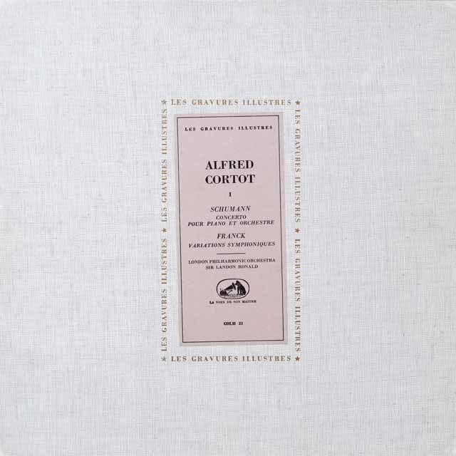 コルトーのシューマン/ピアノ協奏曲ほか 仏EMI(VSM) モノラル 2614 LP レコード