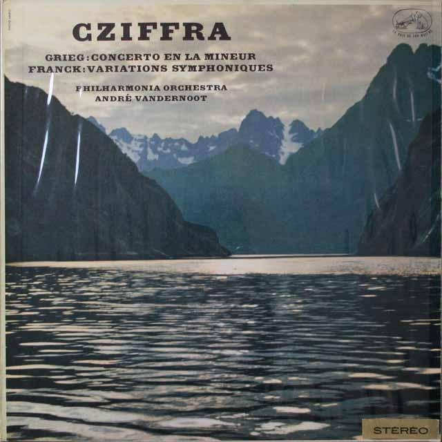 シフラ&ヴァンデルノートのグリーグ/ピアノ協奏曲ほか  仏VSM  2627 LP レコード
