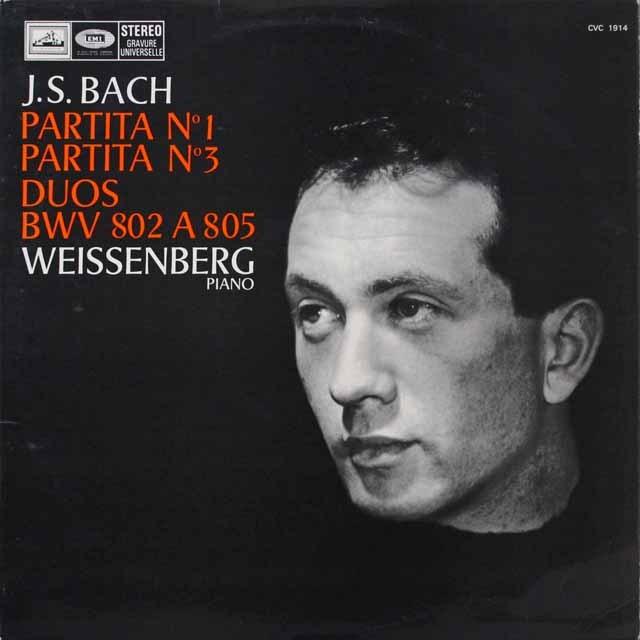 ワイセンベルクのバッハ/パルティータ第1&3番 仏EMI 2614 LP レコード