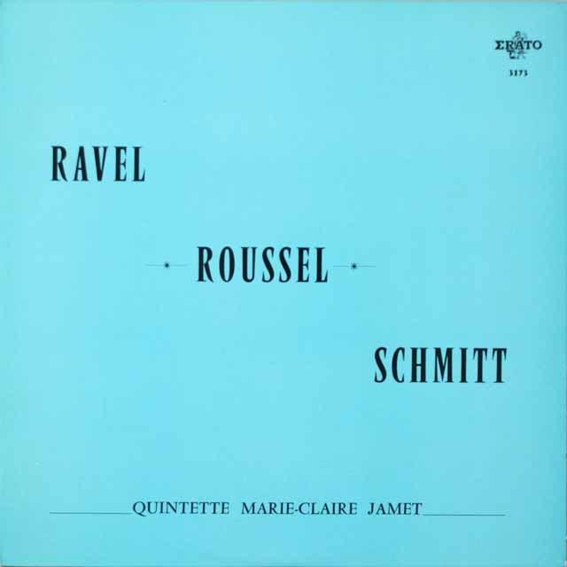 マリー=クレール・ジャメ五重奏団のラヴェル/序奏とアレグロほか 仏ERATO モノラル 3331 LP レコード