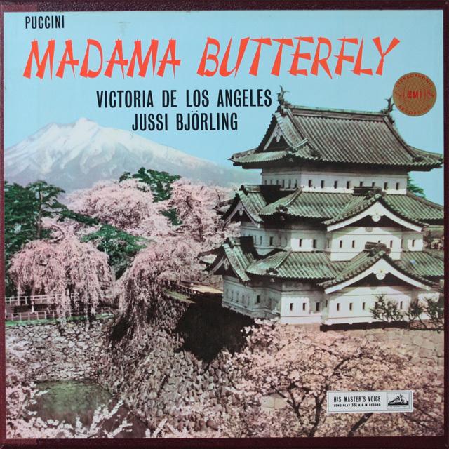 ロス・アンヘレス&ビョルリングのプッチーニ/蝶々夫人  英EMI  2627 LP レコード