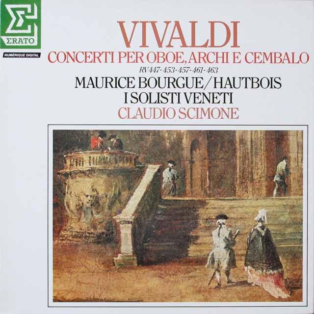 ブルグ、シモーネのヴィヴァルディ/オーボエ協奏曲集 仏ERATO 3331 LP レコード