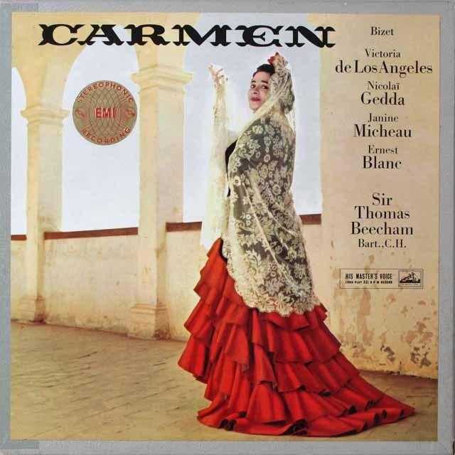 ロス・アンヘレス&ビーチャムのビゼー/カルメン  英EMI  2627 LP レコード