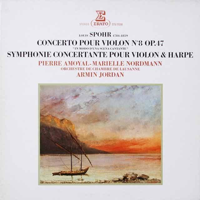 アモイヤル、A.ジョルダンのシュポア/ヴァイオリン協奏曲第8番ほか 仏ERATO 3331 LP レコード