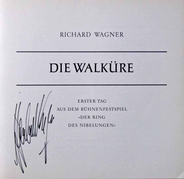 【カラヤンの直筆サイン入り】 カラヤンのワーグナー/「ニーベルングの指環」(全曲) 独DGG オリジナル盤 LP レコード
