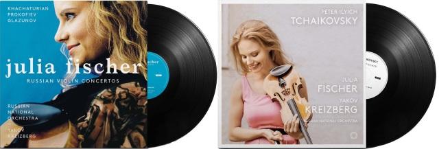 【LP レコード】 ユリア・フィッシャーの/ヴァイオリン協奏曲集(ハチャトゥリアン、プロコフィエフ、グラズノフ、チャイコフスキー) <限定プレス> KKC1163/1166 4LP