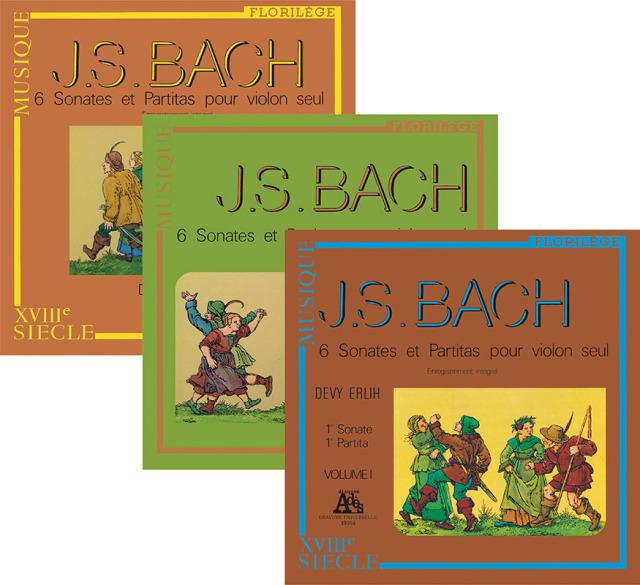 【LP レコード】 エルリーのバッハ/無伴奏ヴァイオリンのためのソナタとパルティータ BWV1001~1006(全曲) <完全限定生産/ドイツ・プレス> KKC1187/1189 3LP