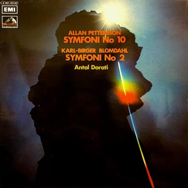 ドラティのペッタション/交響曲第10番ほか  スウェーデンEMI M1701 LP レコード