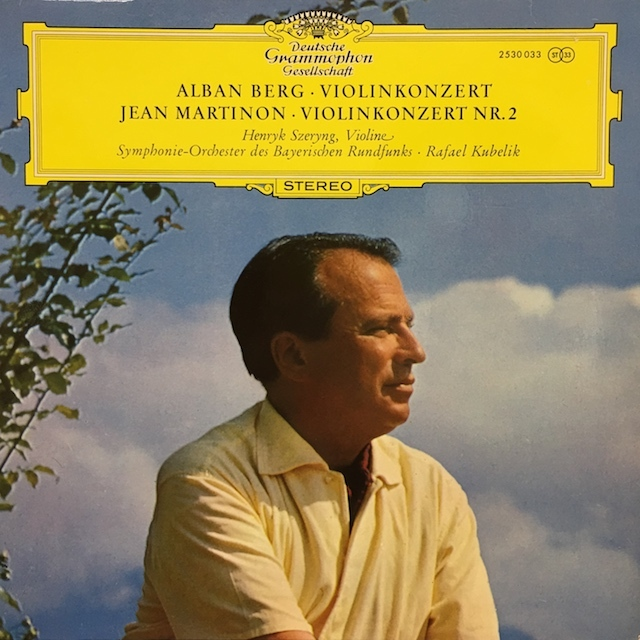シェリング&クーベリックのベルク&マルティノン/ヴァイオリン協奏曲集  独DGG M1701 LP レコード