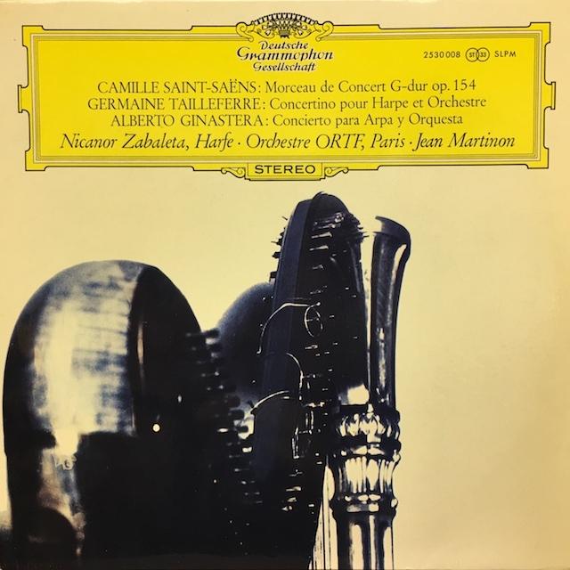 サバレタ&マルティノンのサン=サーンス、タイユフェール、ヒナステラ/ハープ協奏曲集  独DGG M1701 LP レコード