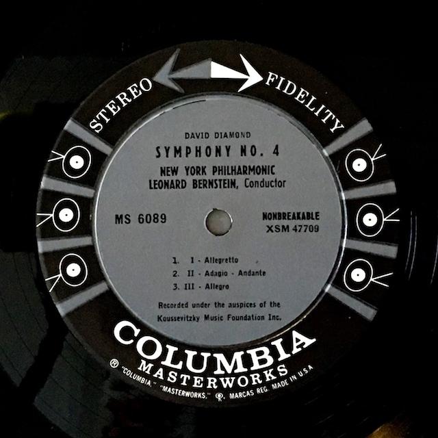 バーンスタインのダイアモンド/交響曲第4番ほか  米Columbia M1701 LP レコード