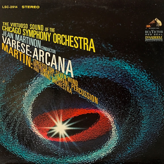 マルティノンのヴァレーズ/「アルカナ」ほか  米RCA M1701 LP レコード