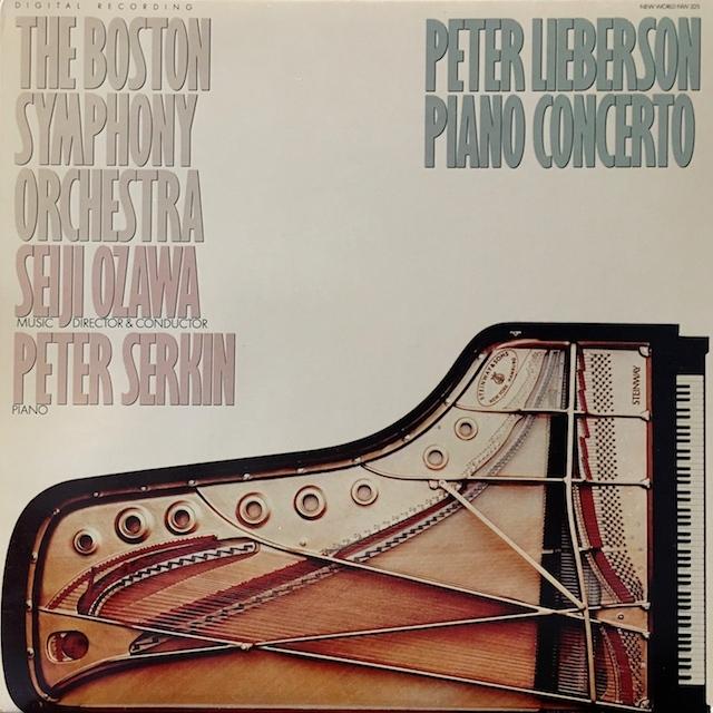 小澤のリーバーソン/ピアノ協奏曲  米NEW WORLD M1701 LP レコード